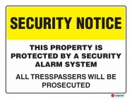 5406 This Property Is Protected By A Security Alarm System