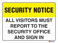 5407 All Visitors Must Report To The Security Office And Sign In