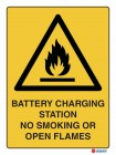 4007 Battery Charging Station No Smoking No Open Flames