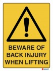 4010 Beware of Back Injury When Lifting