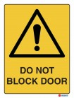 4026 Do Not Block Door
