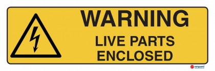 4314 Warning Live Parts Enclosed