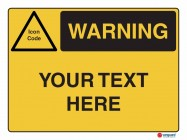 Warning Your Text Here Landscape