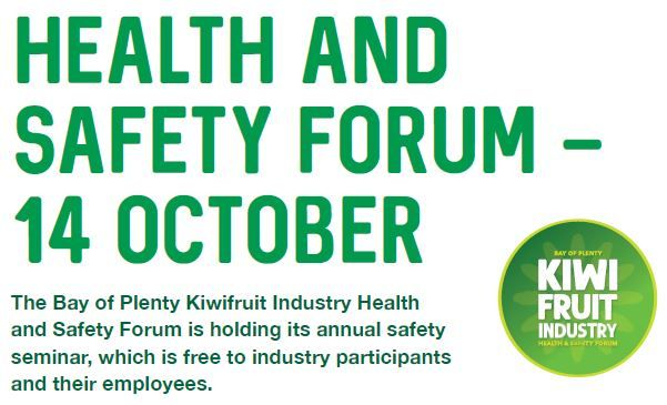 BOP Kiwifruit Industry Health Safety Conference