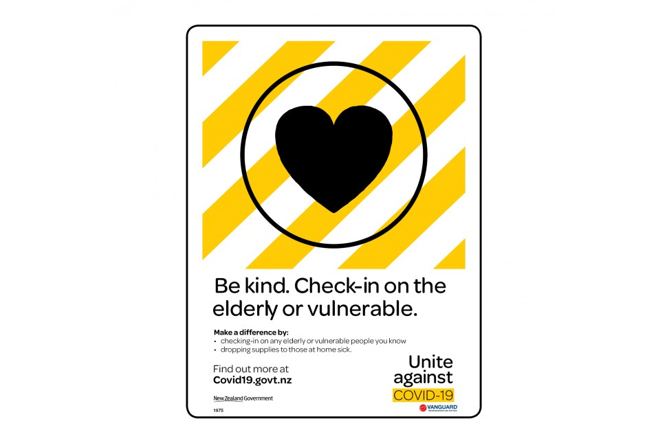 1975 Be Kind. Check In On The Elderly Or Vulnerable