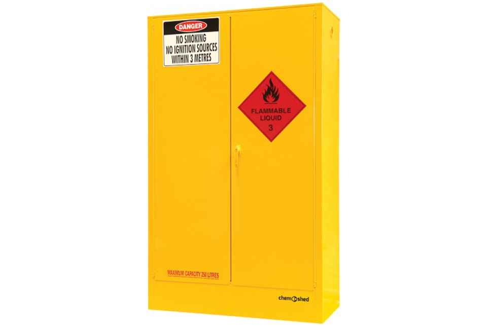 47 F250 Flammable Cabinet 250L Closed