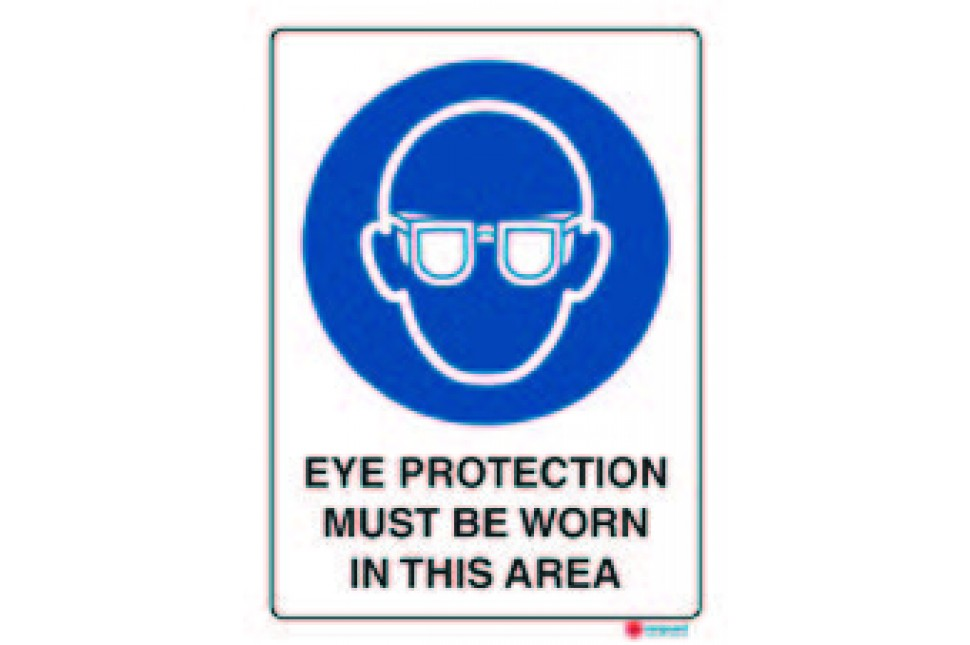 eye protection worn