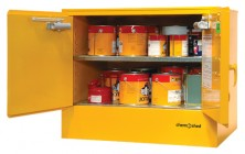 47 F100 Flammable Cabinet 100L Open