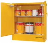 47 F160 Flammable Cabinet 160L Open