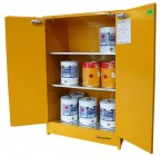 47 F350 Flammable Cabinet 350L Open