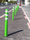Bright green posts