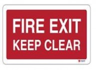 F024 Fire Exit Keep Clear2