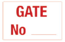 Gate Number PVC Sign