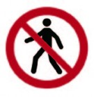No Pedestrian Entry